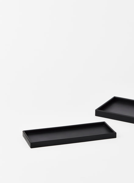 small Black Rectangular rubber Tray