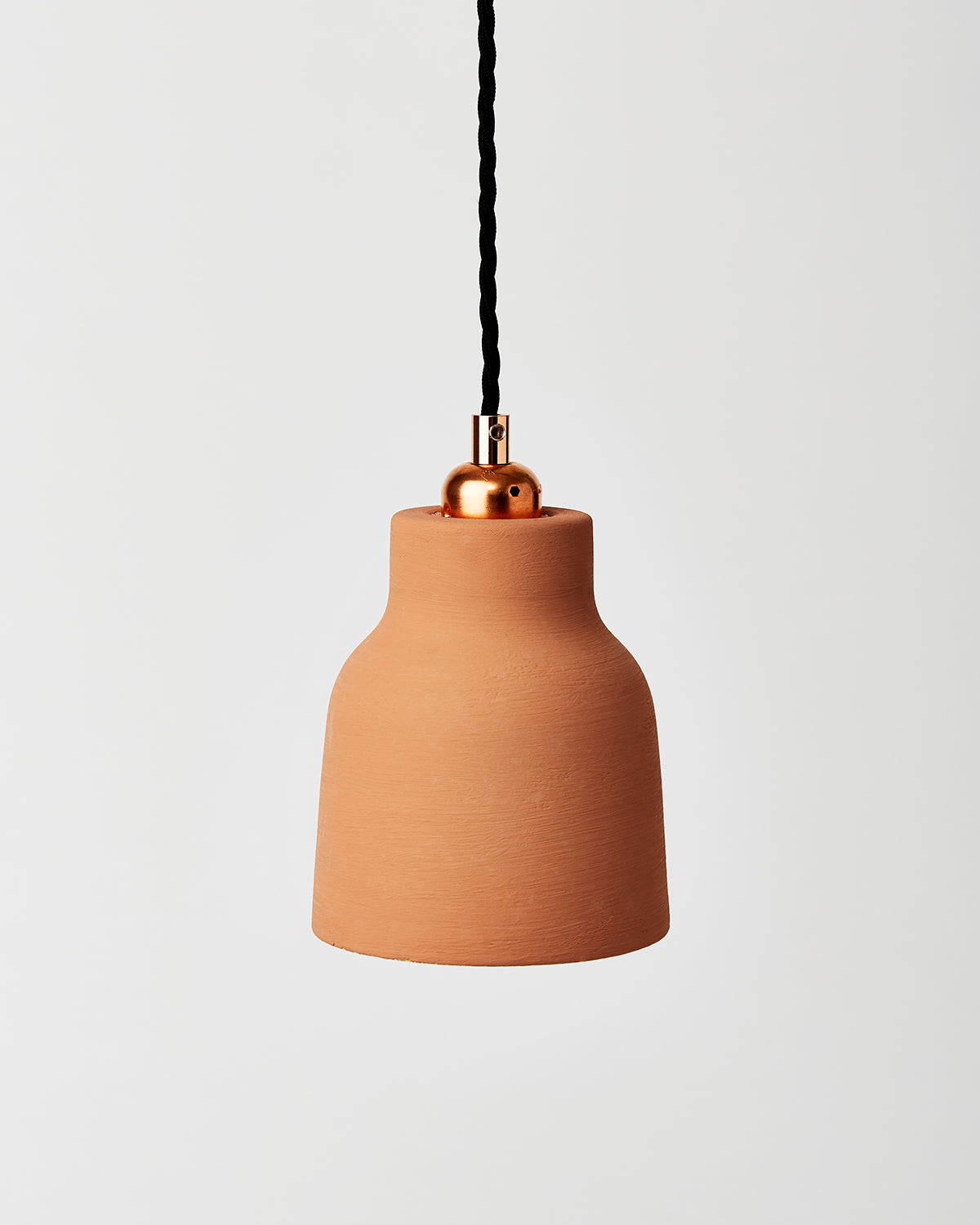 terracotta ceramic pendant shade