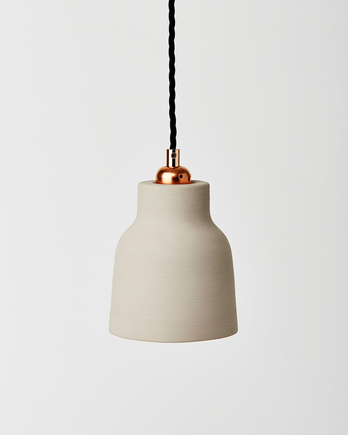 Dove Grey Ceramic Pendant Shade