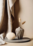 Ivory White Shell Candle