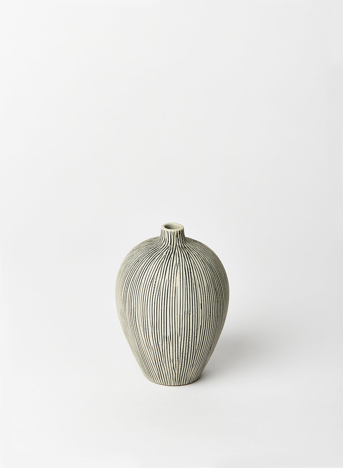 Ebba Grey Striped Vase