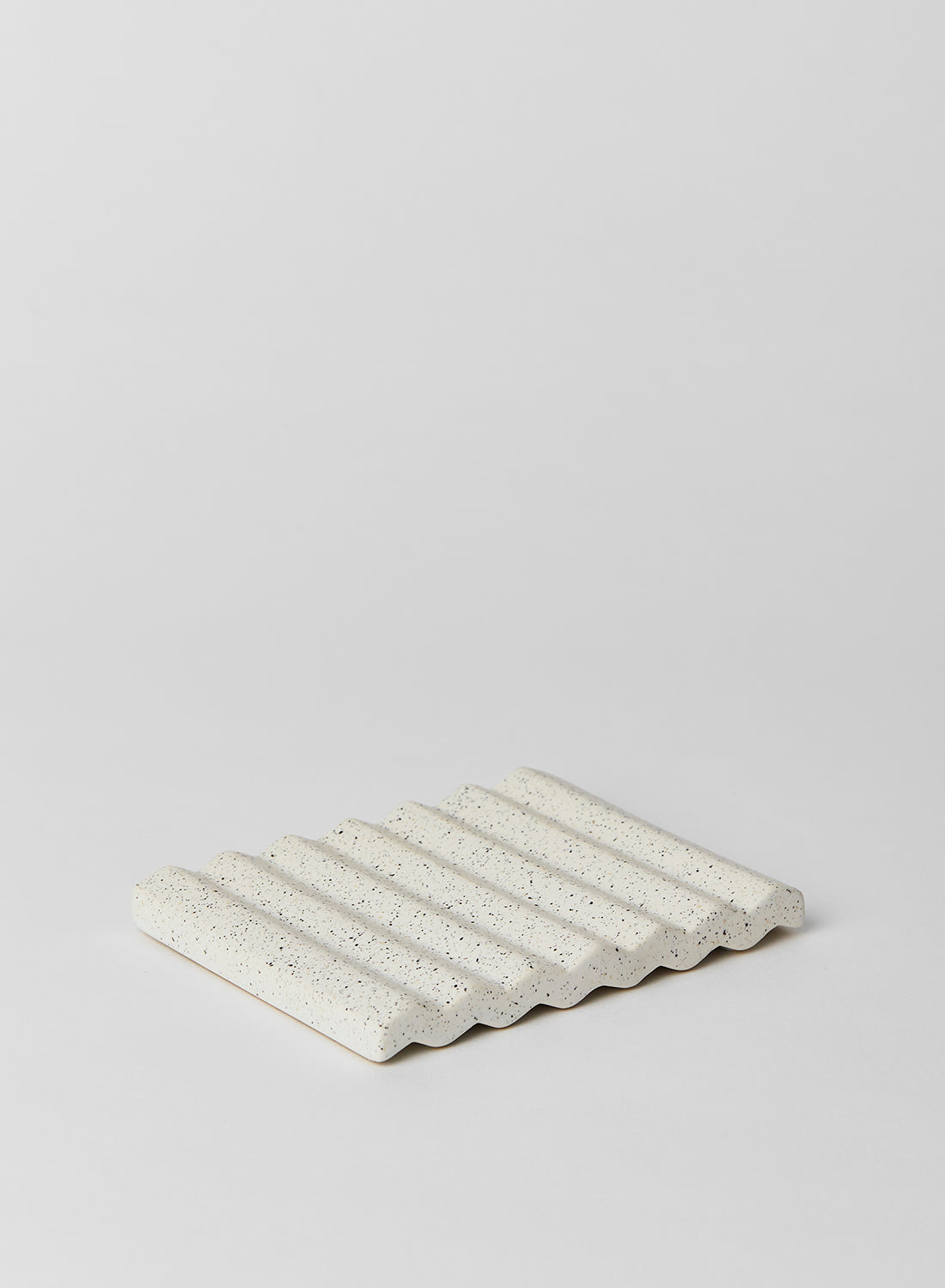 White Speckle Wave Tray