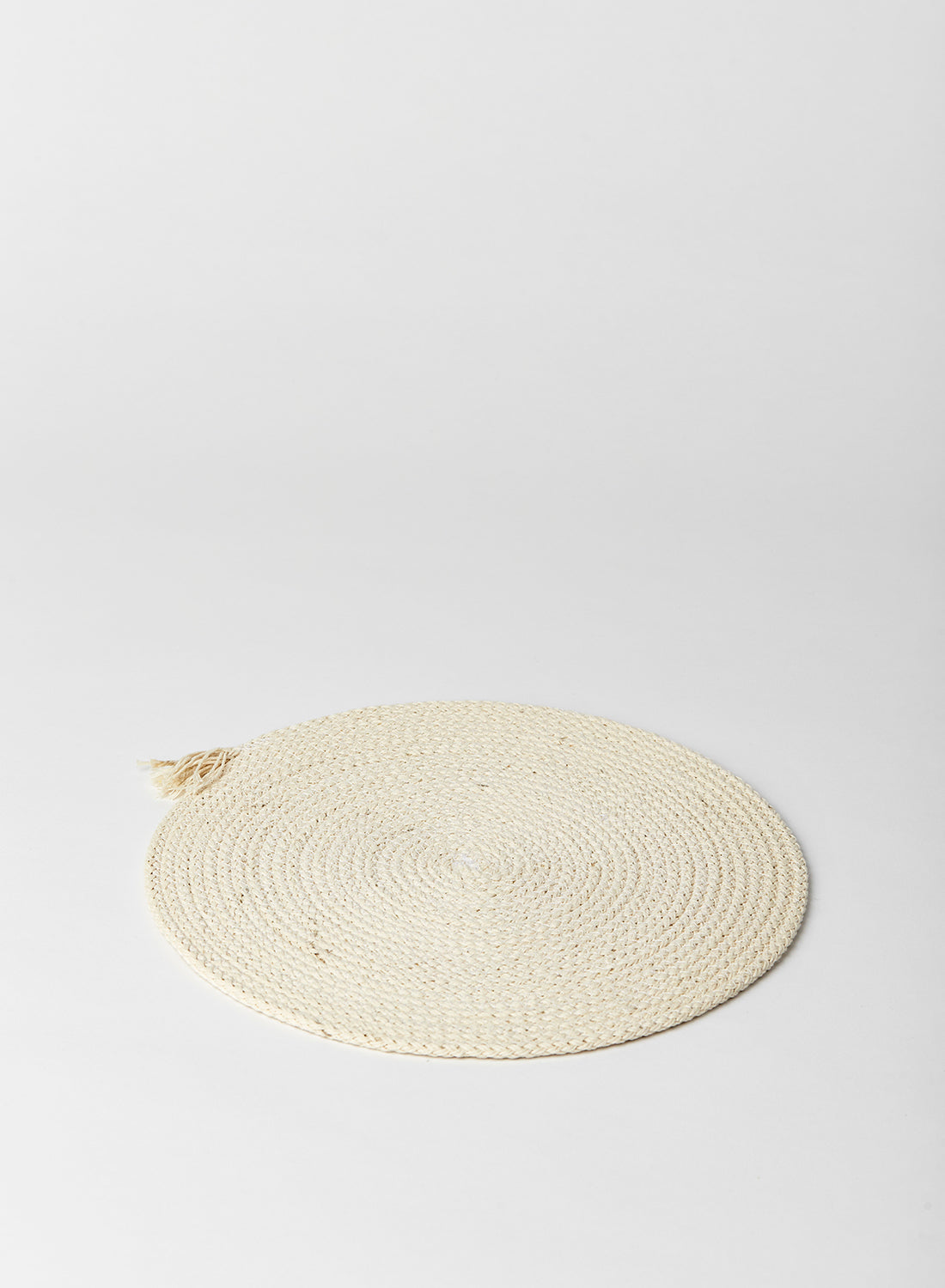 Pure White Cotton Rope Placemat