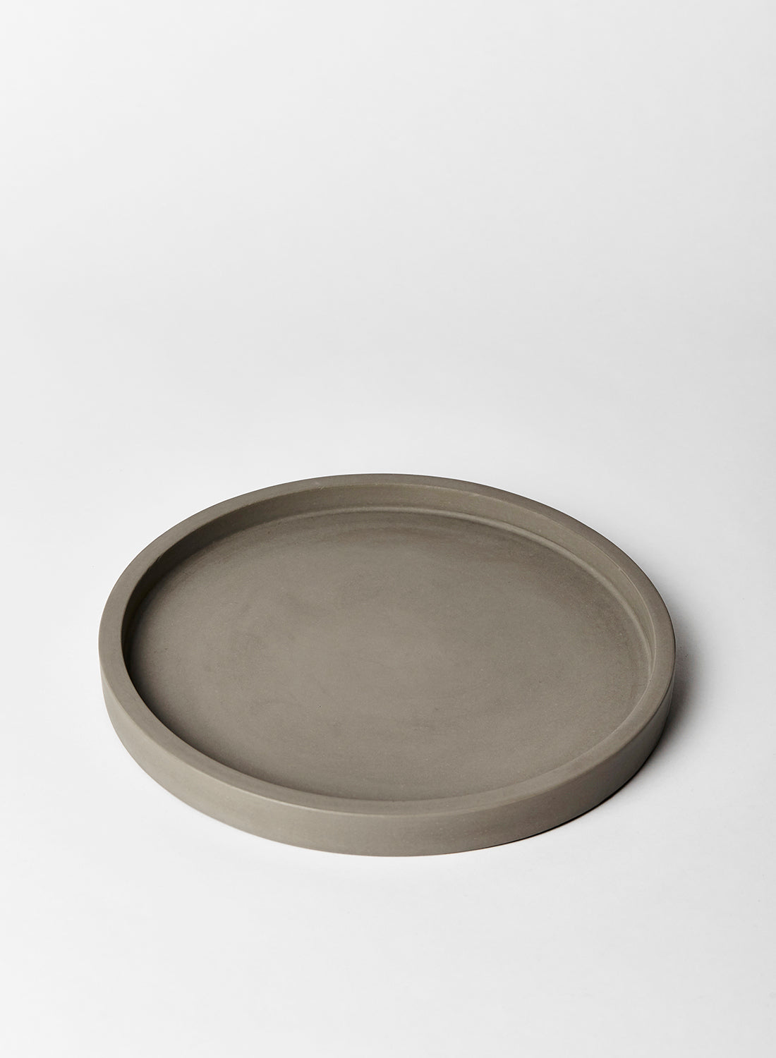 Grey Round Concrete Tray