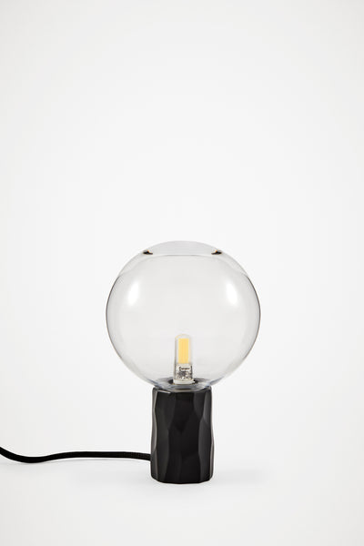 Kyoto Table lamp Black with clear glass