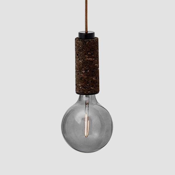 Blackened Cork Pendant Light