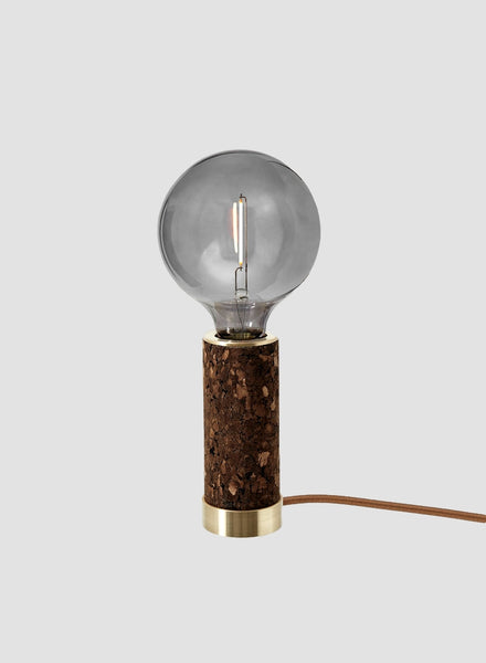 Nove blackened cork table light