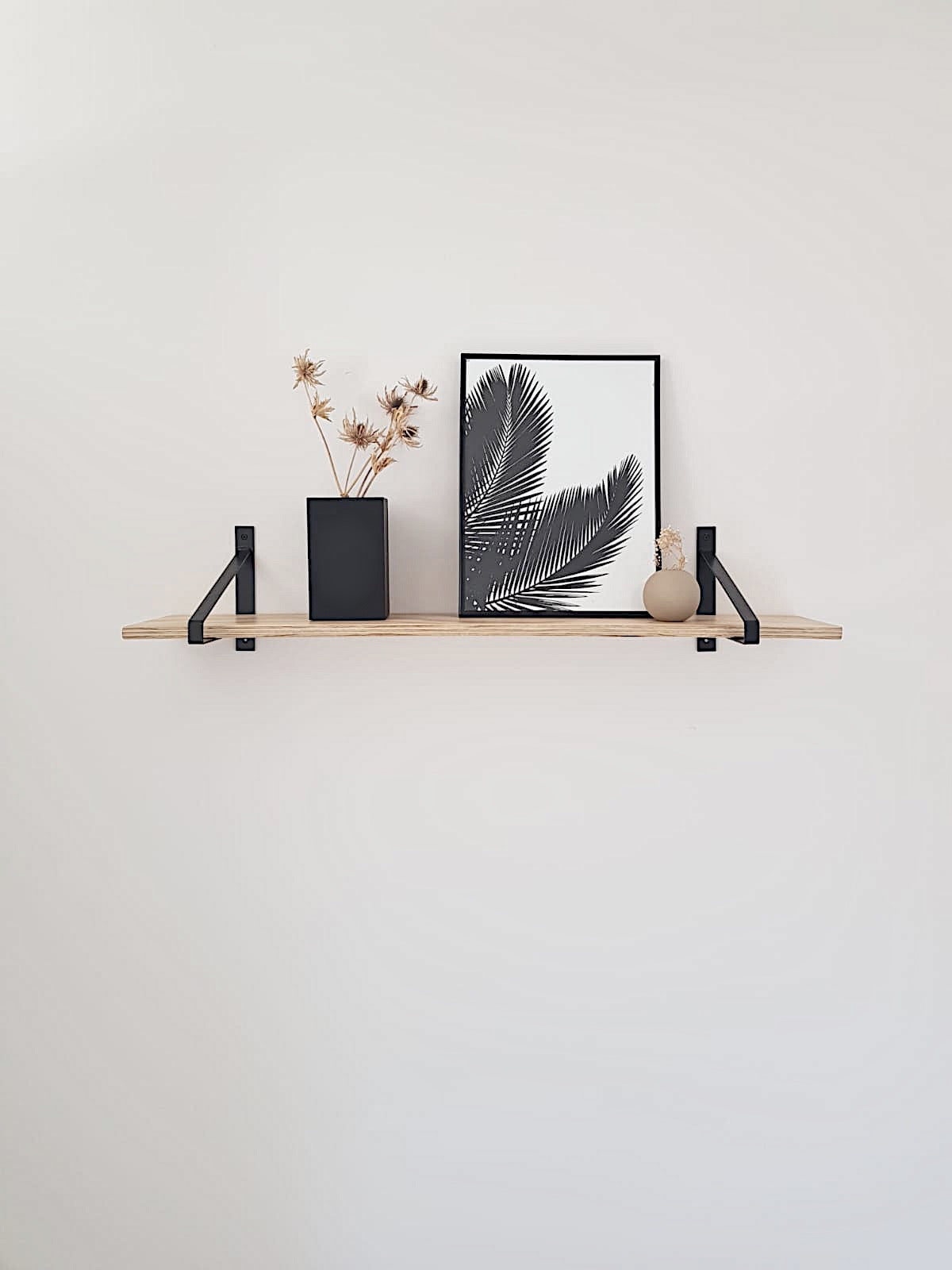 Scandi Display Shelf With Black Suspense Brackets