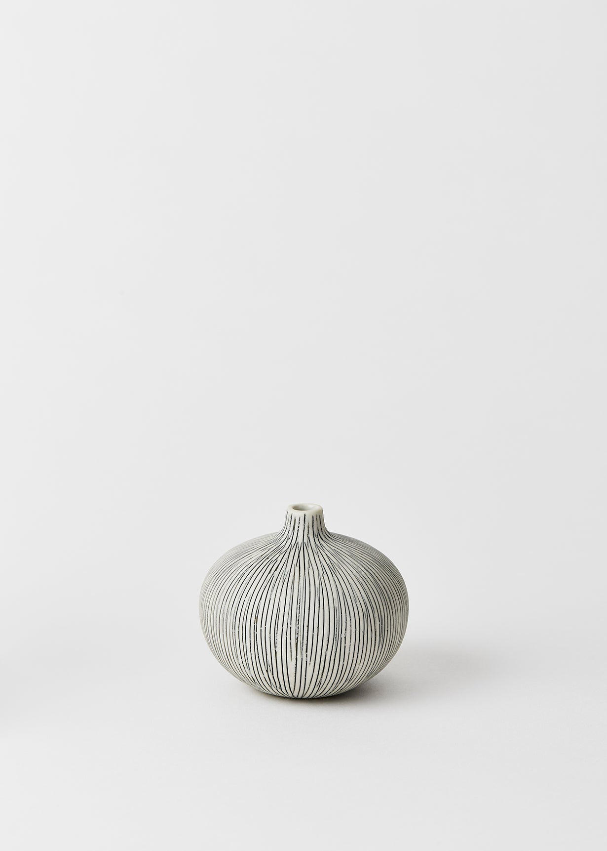 Bari Grey Striped Bud Vase