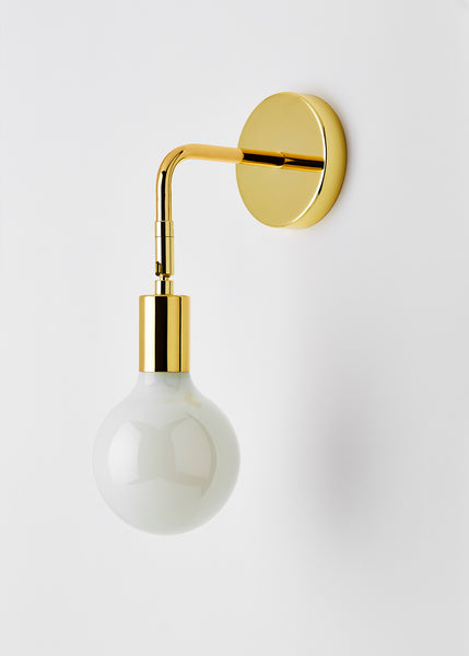 brass wall light with arm