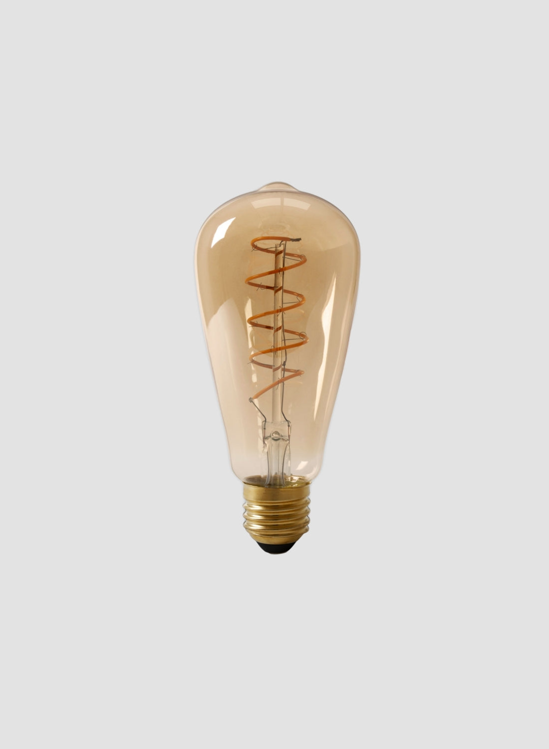 Spiral Teardrop LED Filament Bulb