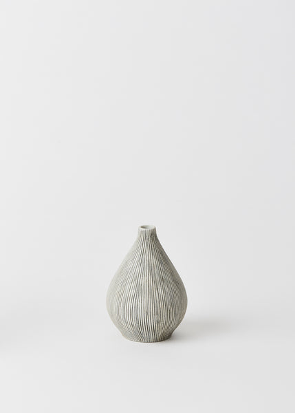 Kobe Grey Striped Bud Vase