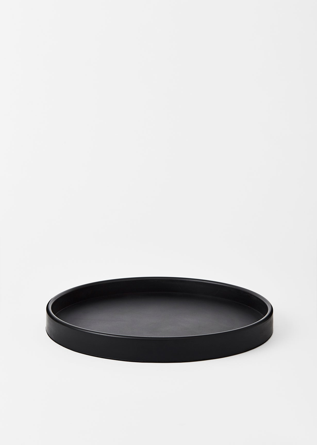 Large Black Round Rubber Tray