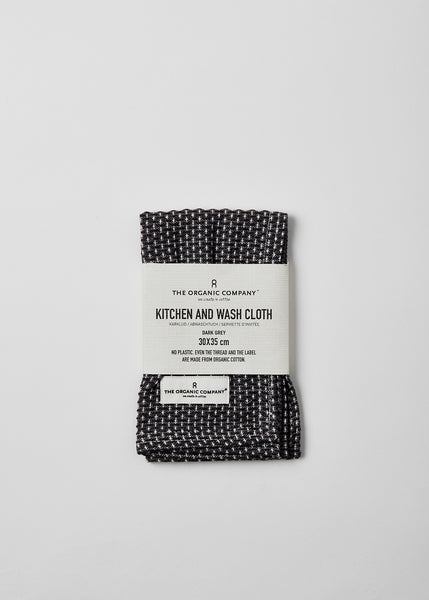 Organic Cotton Grey Kitchen Cloth