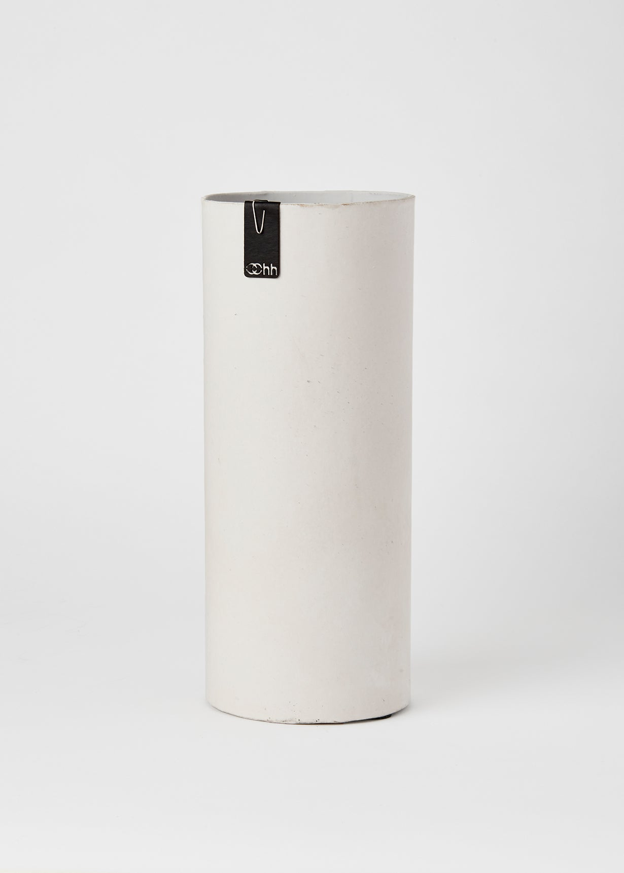 tall grey paper vase