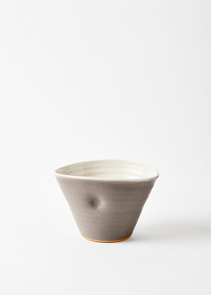 warm grey tall bowl