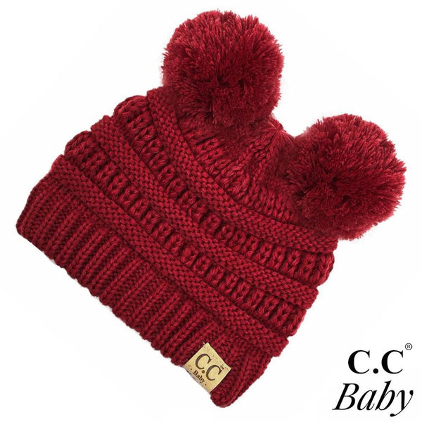 C.C Baby Beanie with Double Pom