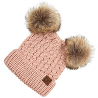 C.C Adult Double Pom Beanie