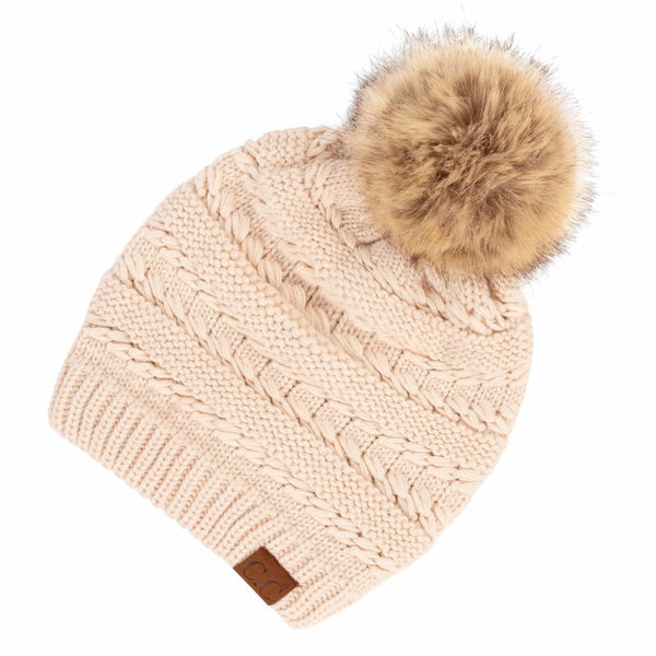 C.C Adult Beanie with Pom