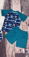 Rawrsome! Dinosaur Boy's Short Set