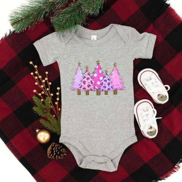 Christmas Trees Infant Onesie