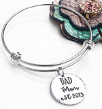 Bad Mom Hand Stamped Necklace and Bracelet - Lasting Impressions CT