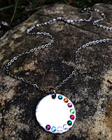 Birthstone Necklace for Mom/Grandmother - Custom Grandchildren Necklace - Holiday Gifts - Lasting Impressions CT