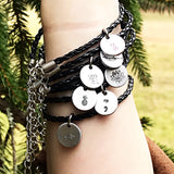 Braided Black Faux Leather Disk Bracelets Multiple Styles Available - Lasting Impressions CT