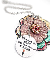 Childhood Cancer Necklace for Mom - Cancer Awareness Jewelry - Lasting Impressions CT