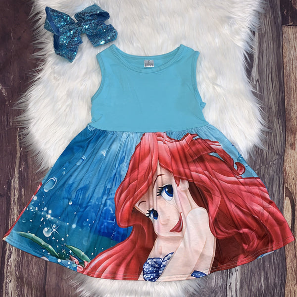 Printed Mid-Twirl Tank Dress Ariel
