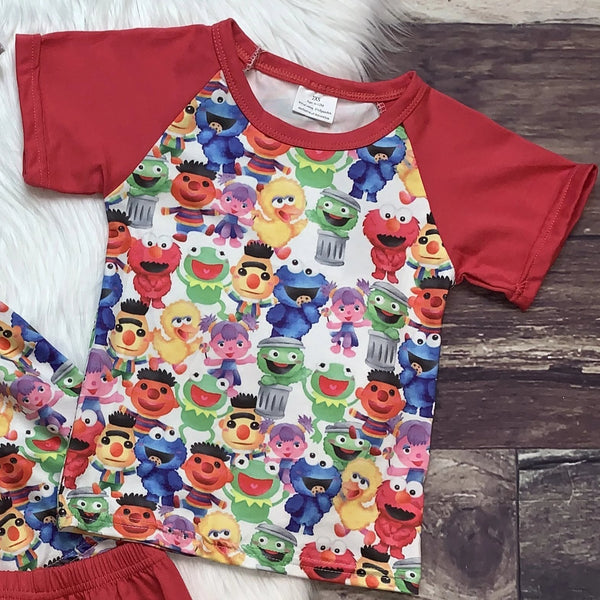 Elmo & Friends Red Tunic Set & Tee
