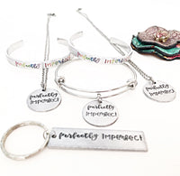 Perfectly Imperfect Cuff Bracelet, Bangle Bracelet, Necklace, or Keychain - Lasting Impressions CT