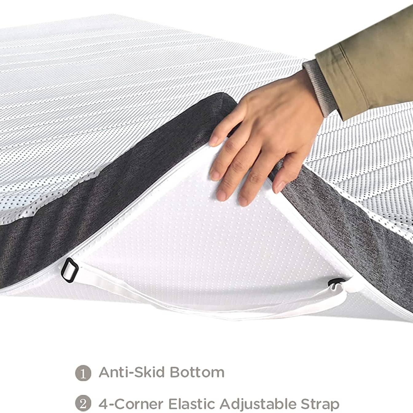 Antibacteria Gel-infused luxury luxurious sleep mattress topper design amazon best topper sleep tech Reinvigorate your old mattress or makes your new mattress more comfortable; The Extra -Luxury topper renovates both you and your sleeping time.✔️ 1.5-inch