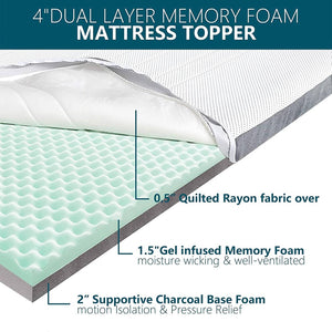 Reinvigorate your old mattress or makes your new mattress more comfortable; The Extra -Luxury topper renovates both you and your sleeping time.  Antibacteria best during covidAir Foam + 2-inch Supportive Base Charcoal Foam provides just the best sleeping