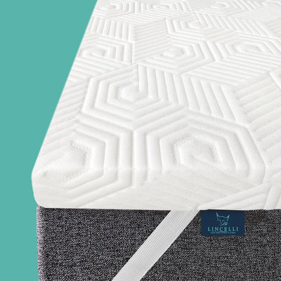 Lincelli Anti-bacterial 3 Inch Memory Foam Mattress Topper | Select High Density Supportive Memory Foam Pad | Firm Mattress Topper - LINCELLI - YOUR BEST NIGHT'S SLEEP