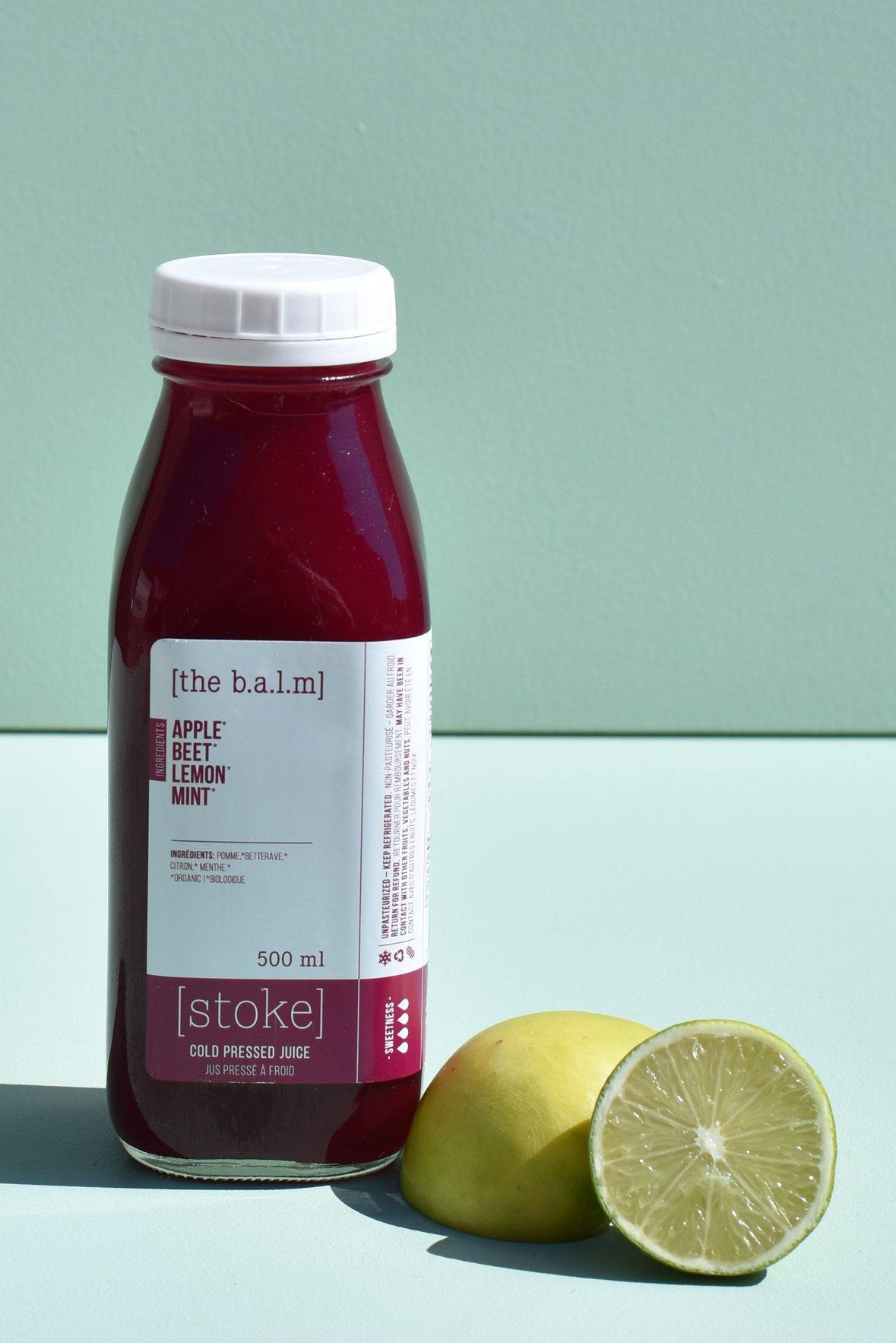 [ the b.a.l.m ] cold pressed juice with beet