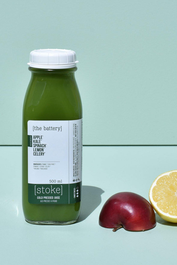 [ the battery ] cold pressed juice with kale and spinach