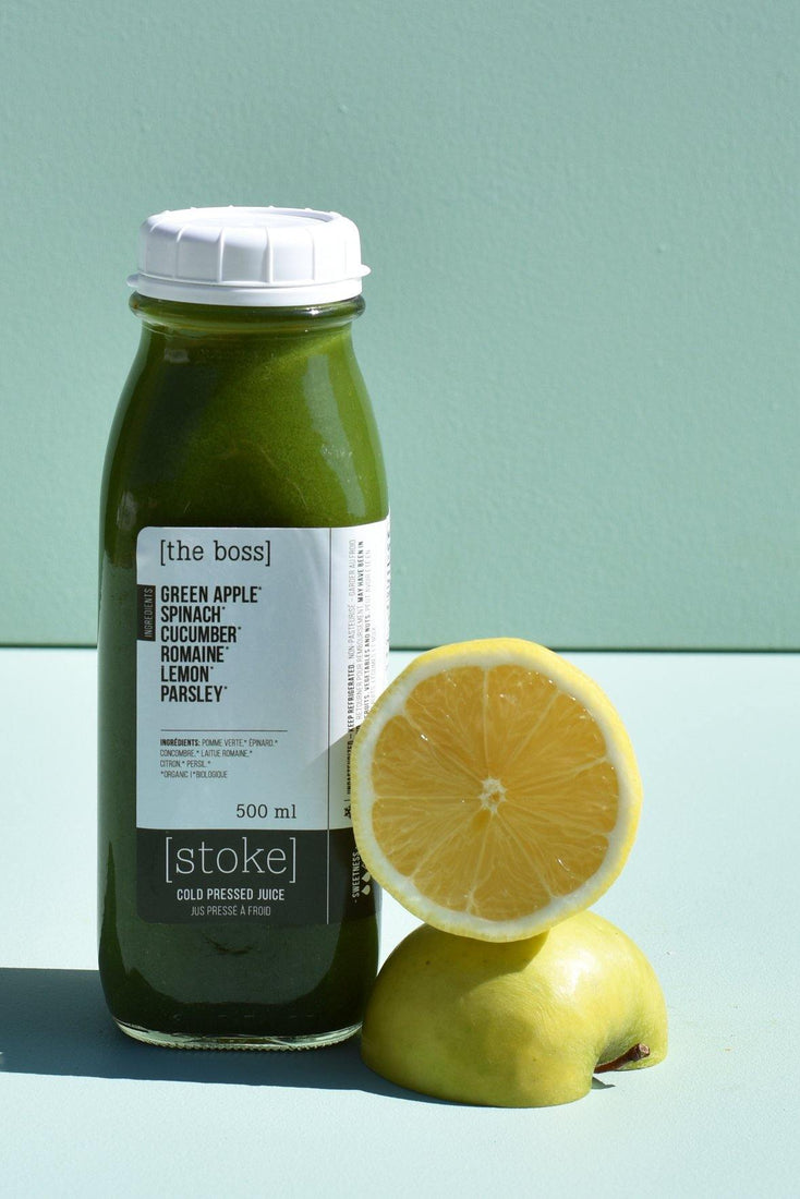 [ the boss ] cold pressed juice with spinach and cucumber