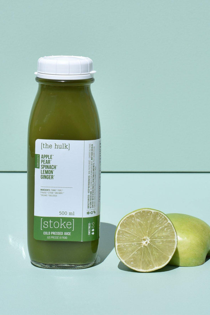 [ the hulk ] cold pressed juice with pear and spinach