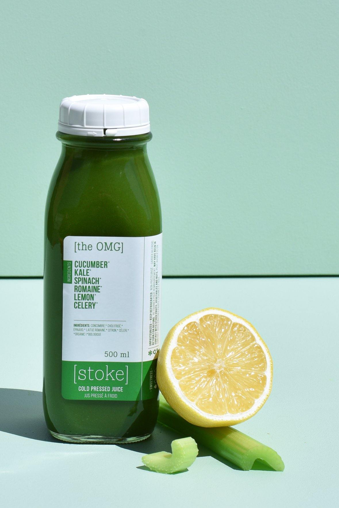 [ the OMG ] cold pressed juice with romaine and kale