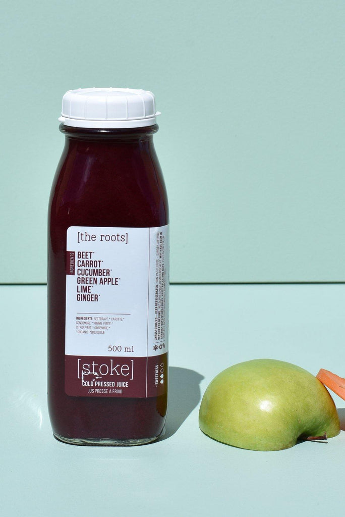 [ the roots ] cold pressed juice with beet and carrot