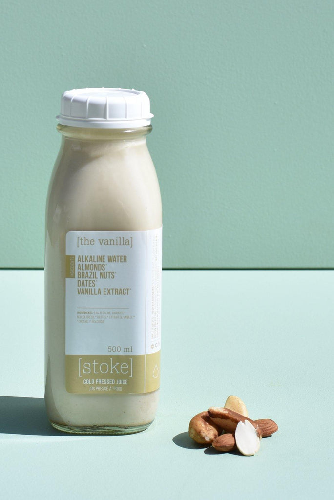 [ the vanilla ] cold pressed juice - nut milk - with brazil nuts and dates