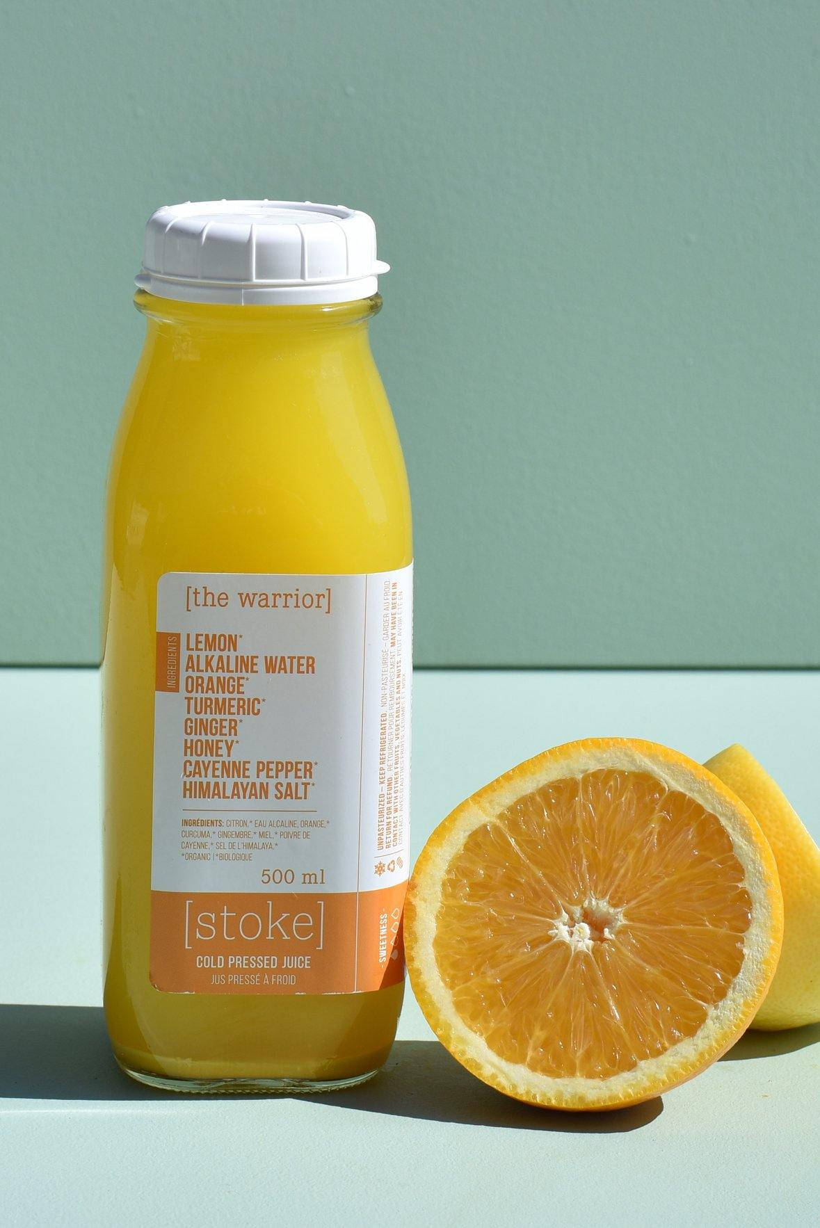 [ the warrior ] cold pressed juice with orange and ginger