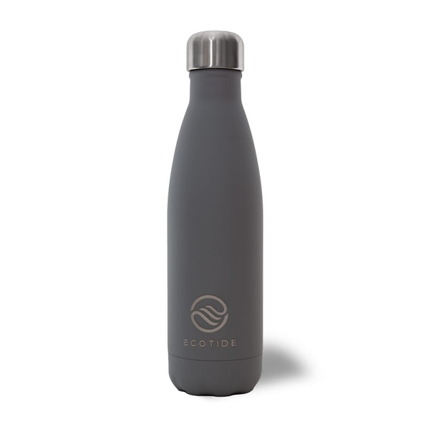 Matte Grey 500ml Water Bottle