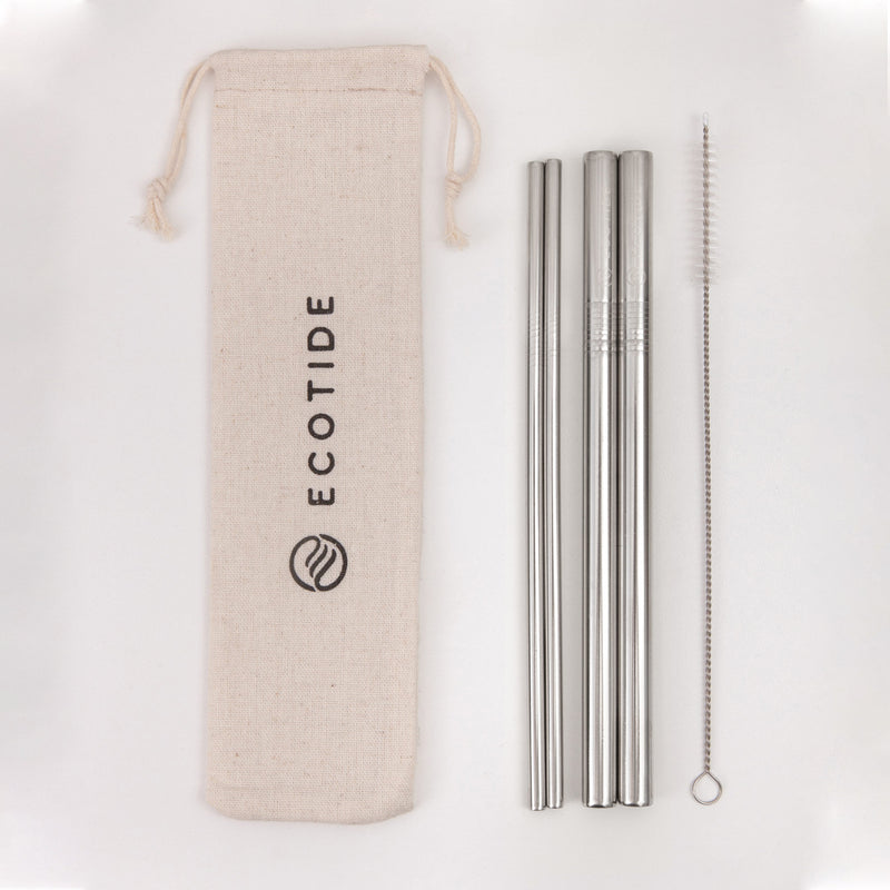 Silver Smoothie Straw Pack