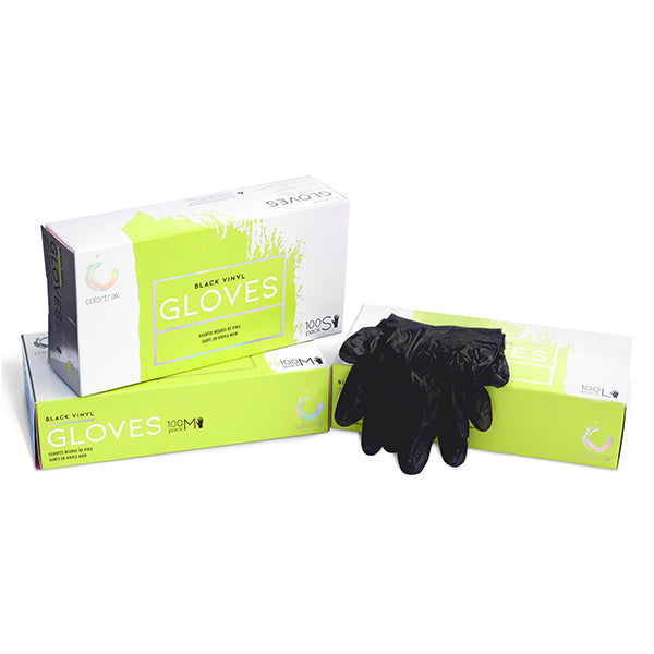 Colortrak Black Disposable Gloves Stain Free
