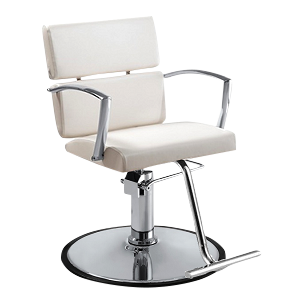 Charlotte Hair Salon Styling Chair - White - Factory-Direct Clearance Sale
