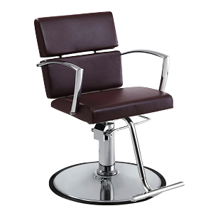 Charlotte Hair Salon Styling Chair - Mocha - Factory-Direct Clearance Sale
