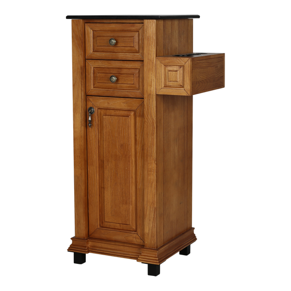 Chelsea Petite Tower Styling Station - Walnut - Factory-Direct Clearance Sale