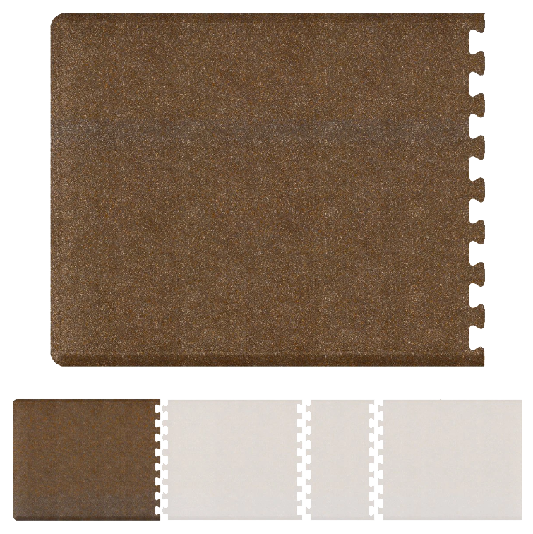 Bty Infinity Granite Left 4' X 4.75' - Copper Salon Mat